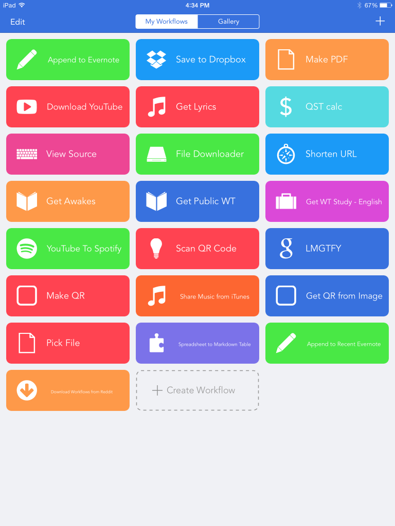 Workflow App Home Screen
