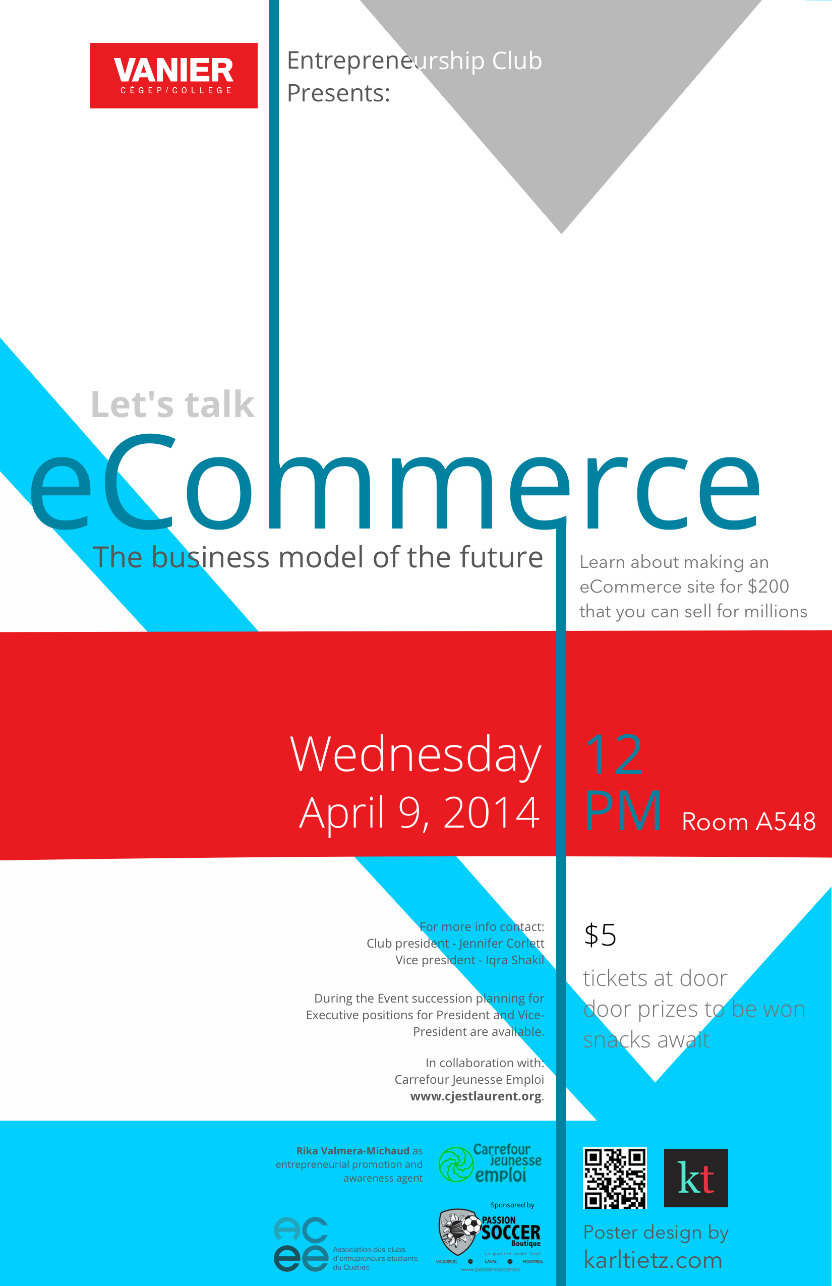 Poster design service - Poster Design For An Ecommerce Event At Vanier College In Montreal
